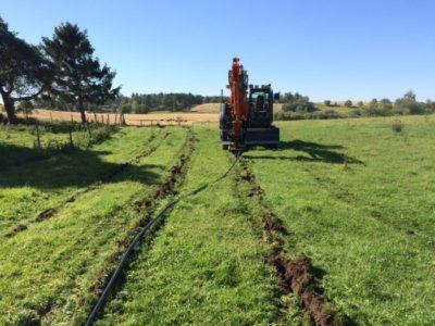 maskine og nedpløjnings spor